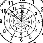 Animated_Spiral_Clock_with_2_pointers_by_Robbert_van_der_Steeg